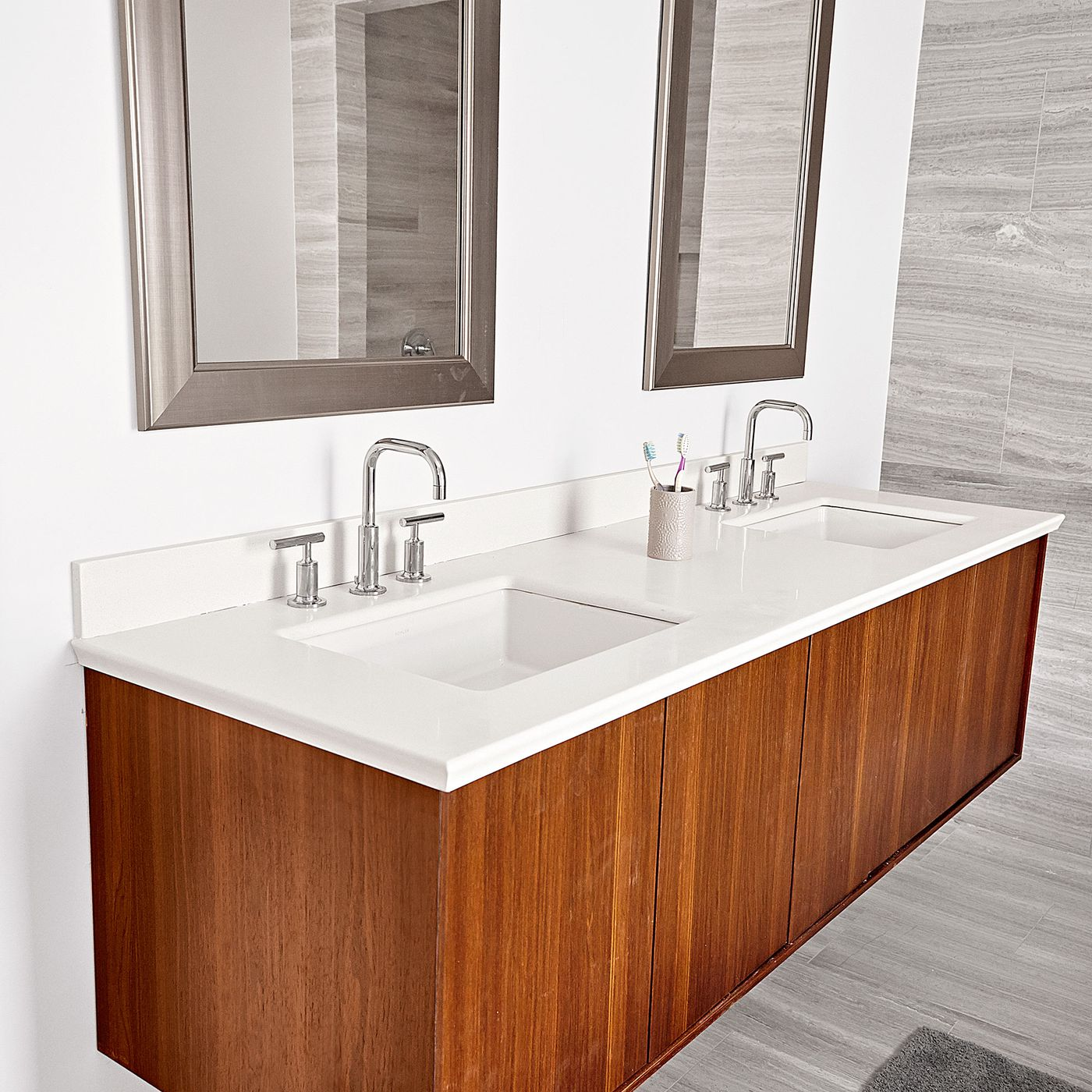 how to install a wall mount vanity and