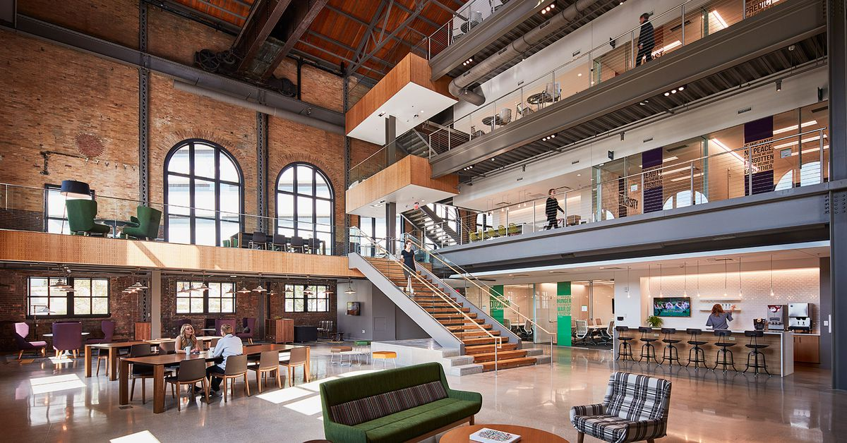 Gorgeous Renovation Turns Old Steam Factory Into Modern Office Space Curbed