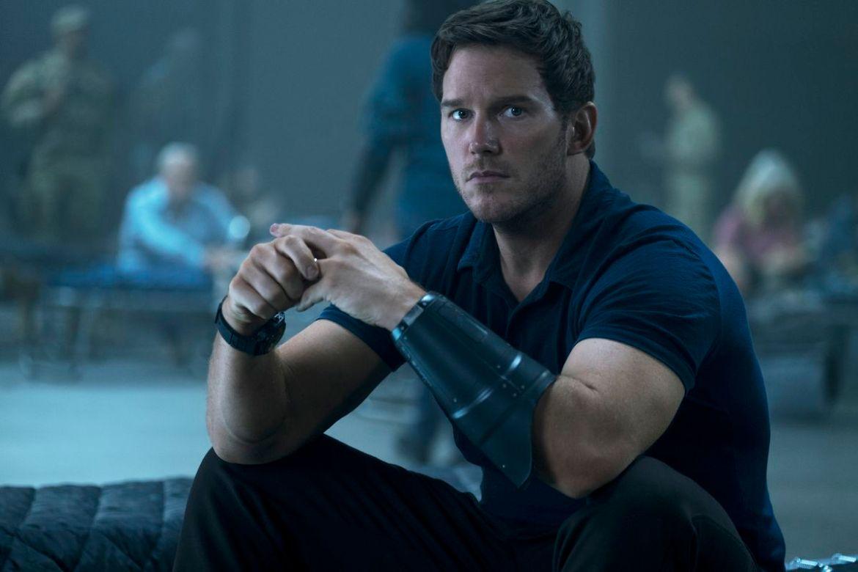 Chris Pratt sits pensively in The Tomorrow War