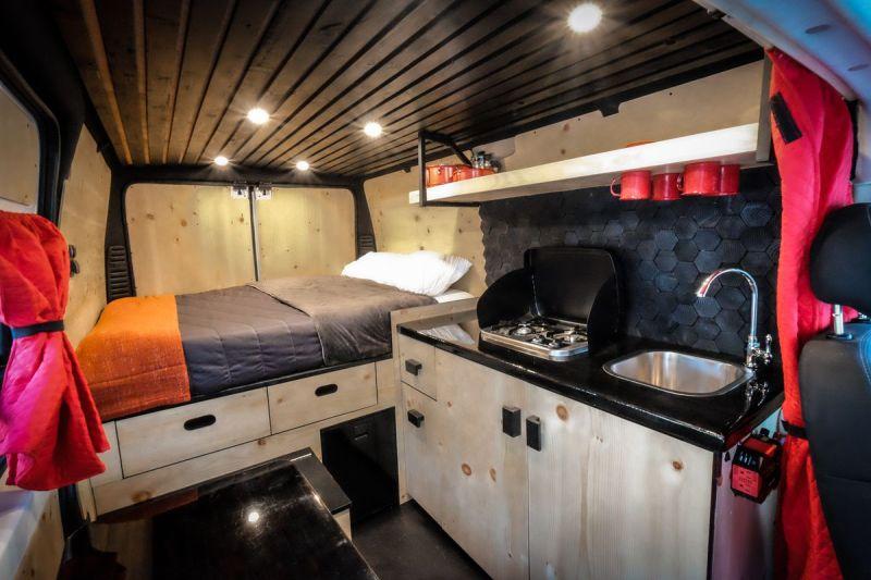 The Interior Of A Biggie Campervan Image Courtesy Native Campervans
