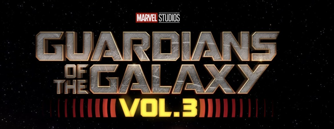 a title card that says Guardians of the Galaxy: Vol. 3