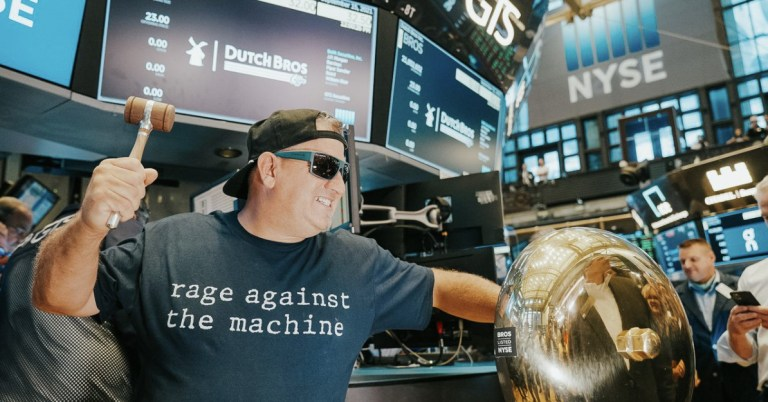 Immune to Irony, the Dutch Bros Guy Wore a Rage Against the Machine Shirt to Wall Street
