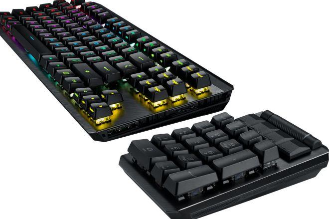 asusrogclaymoreii.0 Asus' ROG Claymore II mechanical keyboard has a handy detachable number pad | The Verge