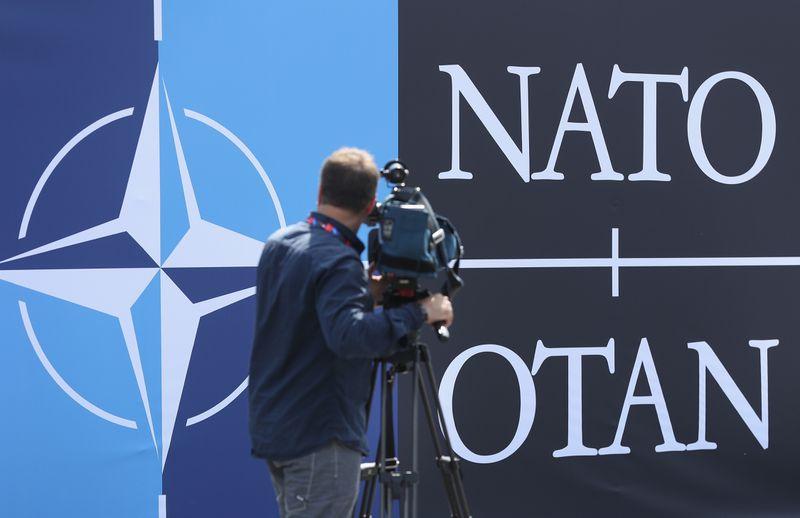 NATO's logo.