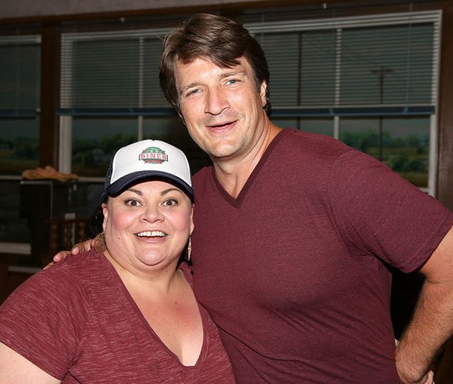 Nathan Fillion Visits Broadways Production Of Waitress Walter Mcbride Getty Images Entertainment Getty Images