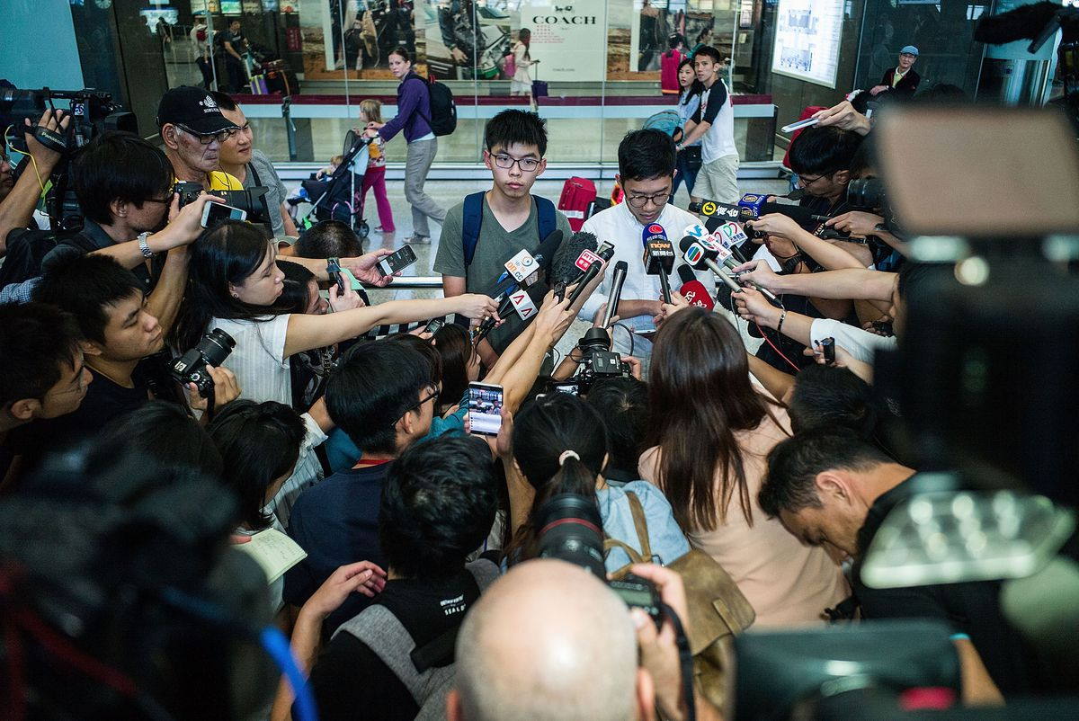 Hong Kong Protest Leader Joshua Wong Detained In Bangkok