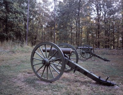 Canons at Cheatham Hill, Kennesaw Mountain battle site, Georgia