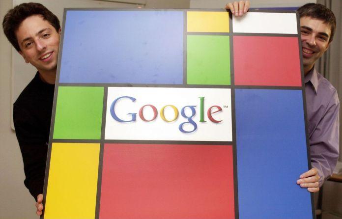 Brin, Sergey - Google-Gründer - com o parceiro Larry Page (r)