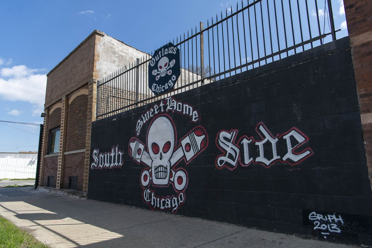 "The Outlaws Motorcycle Club's South Side clubhouse. Orville ""Orvie"" Cochran once headed the ""mother chapter"" based there."