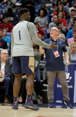 New Orleans Pelicans VP of Basketball Operations talks to Zion Williamson.