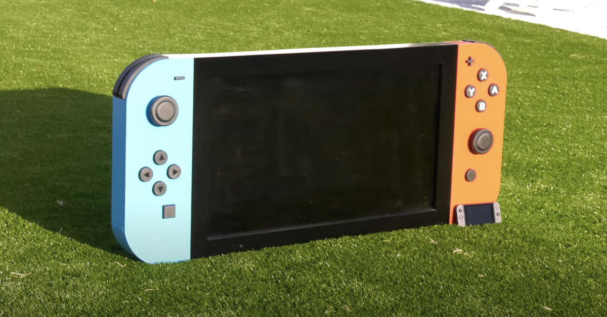 This Nintendo Switch is so big you can actually read the text in Skyrim