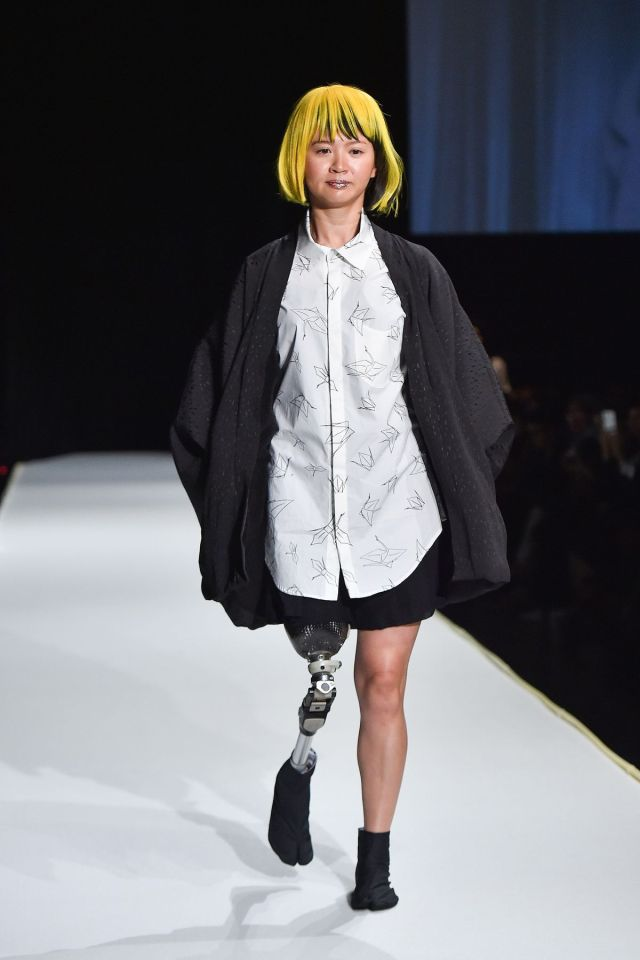 A fashion show featuring designs for people with disabilities.