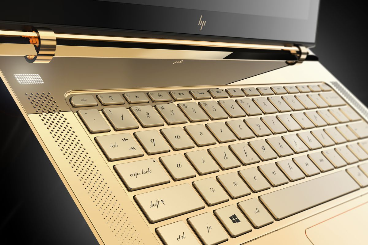 HP Is Auctioning Off Gold Plated Diamond Studded Versions Of Its Thin New Laptop The Verge