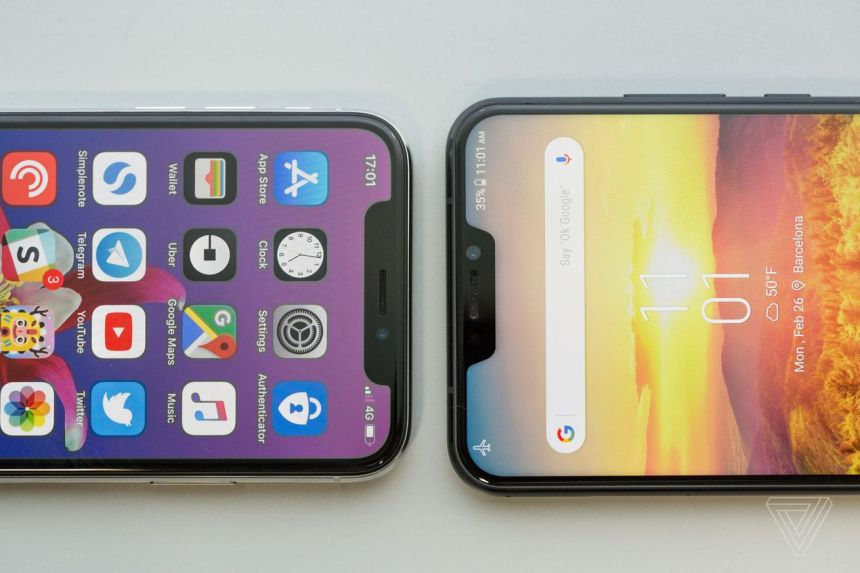 iPhone X and Asus Zenfone 5