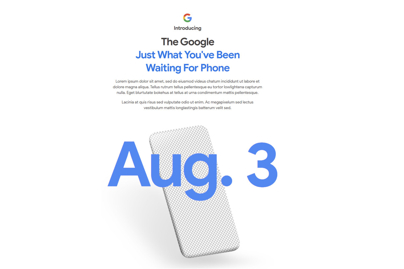 Google teases August 3rd launch for long-awaited Pixel 4A