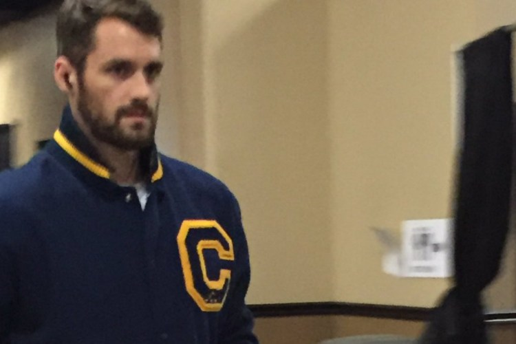 Kevin Love reps UCLA at the NBA Finals...by wearing a Cal ...