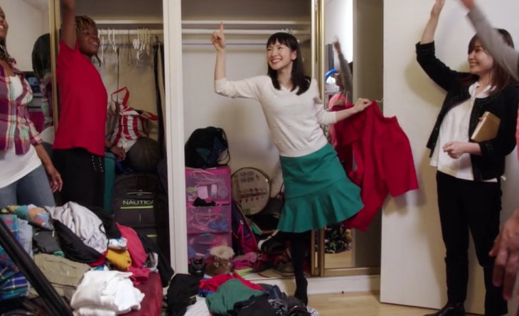 Marie Kondo and a family demonstrate what it looks like to spark joy.