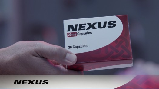 "Nexus, a fake drug shown in an ""ad"" during WandaVision."