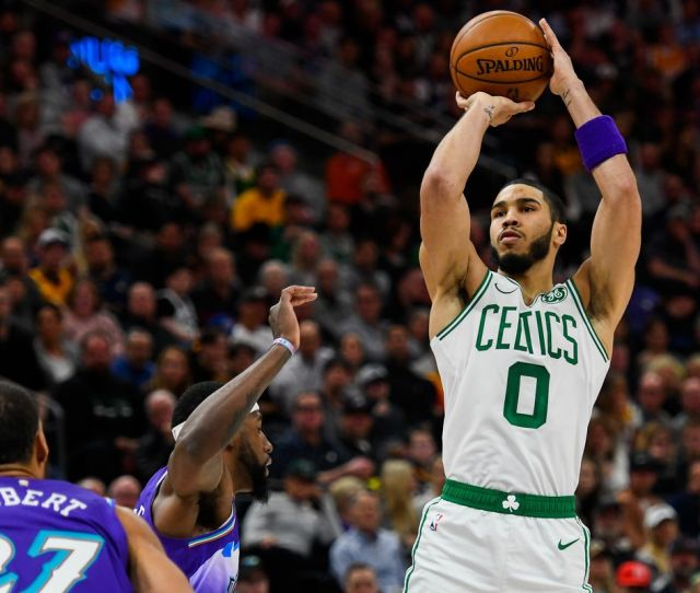 Jayson Tatum Jaylen Brown Lead Celtics Past Jazz