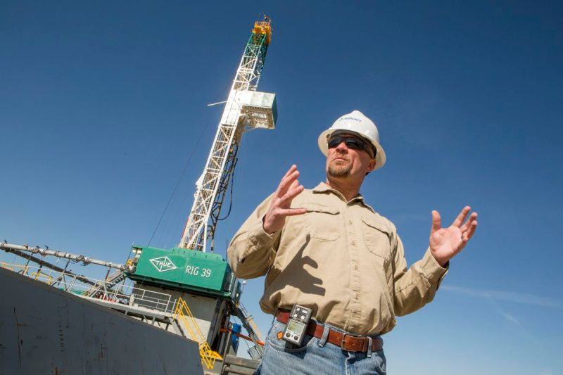 Natural gas fracking in Wyoming