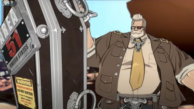 goldlewis.0 The US Secretary of Defense, armed with an alien coffin, is coming to Guilty Gear   Polygon
