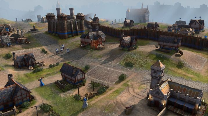 An English city in Age of Empires 4