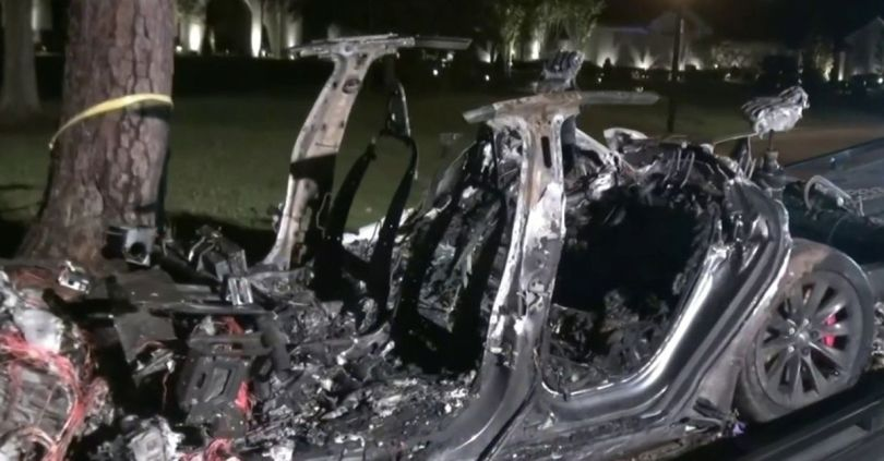 Tesla claims someone was in the driver's seat in deadly Texas crash
