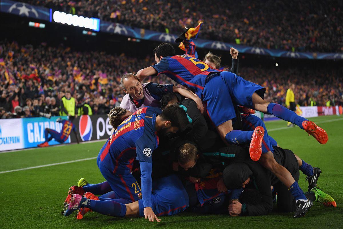 barcelona 6 1 psg 2017 uefa champions