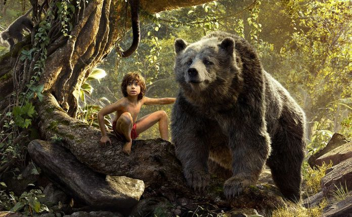 Mowgli with Baloo