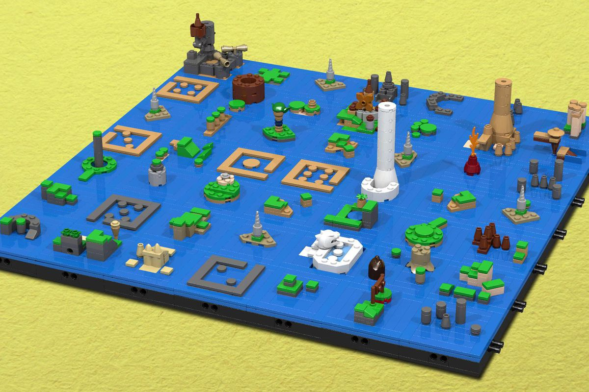 Lego Wind Waker Map Will Have You Busy Through New Years
