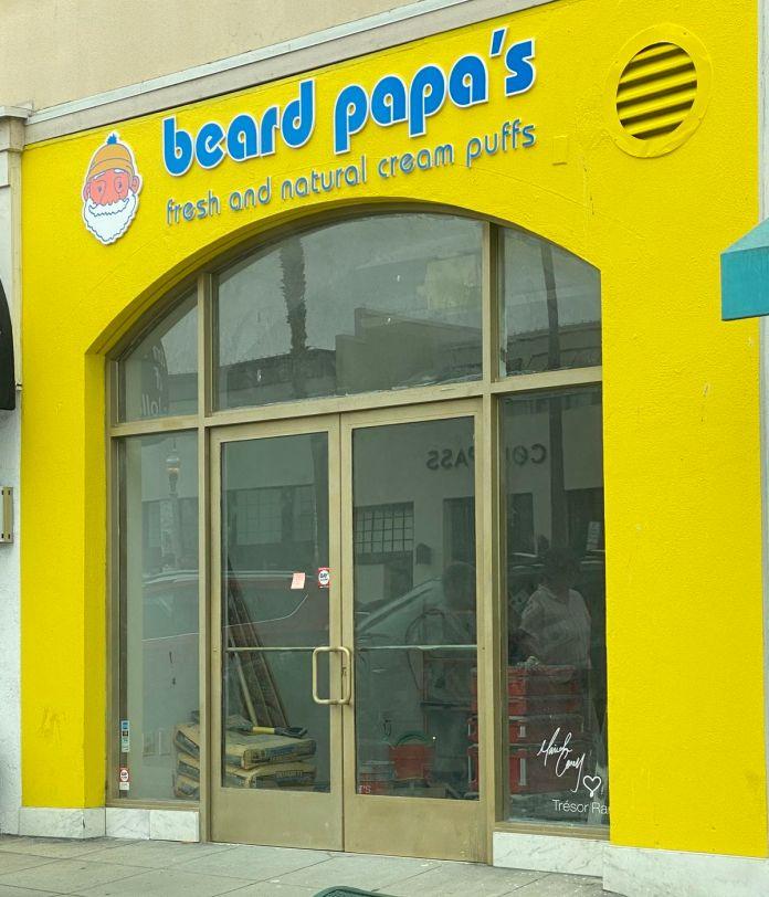 The Girard Avenue Beard Papa storefront