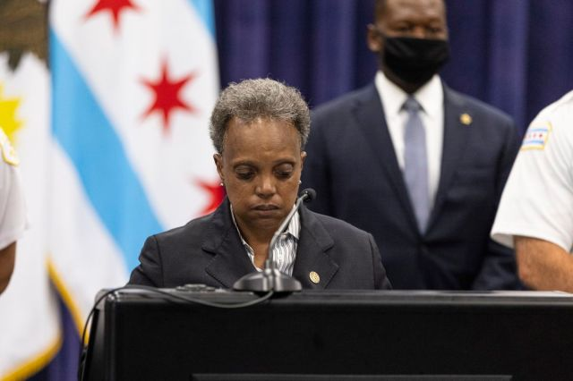 """While the mayor said """"we need to continue the journey to achieve constitutional, accountable policing,"""" she insisted """"the police are not our enemies."""" She continued: """"They are human, just as we are. Flawed, just as we are. ... But also risking their lives every day for our safety and security."""""""