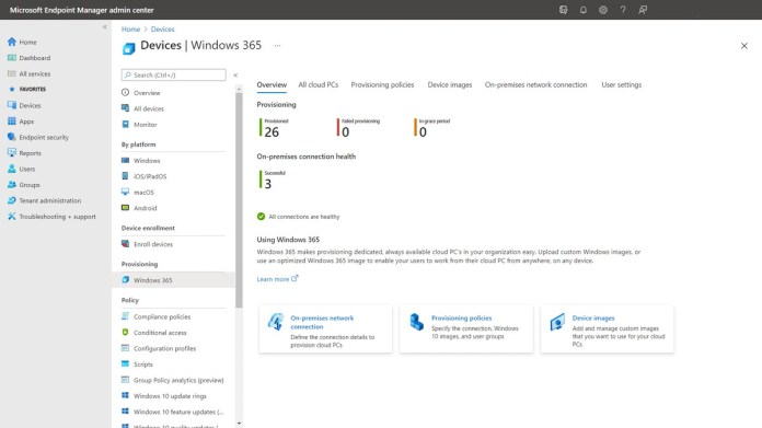 Businesses can create Cloud PCs within minutes.