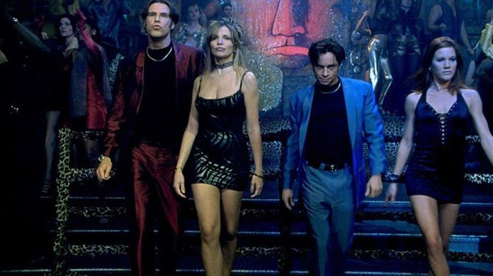 A Night At The Roxbury: two guys and their dates dance at camera