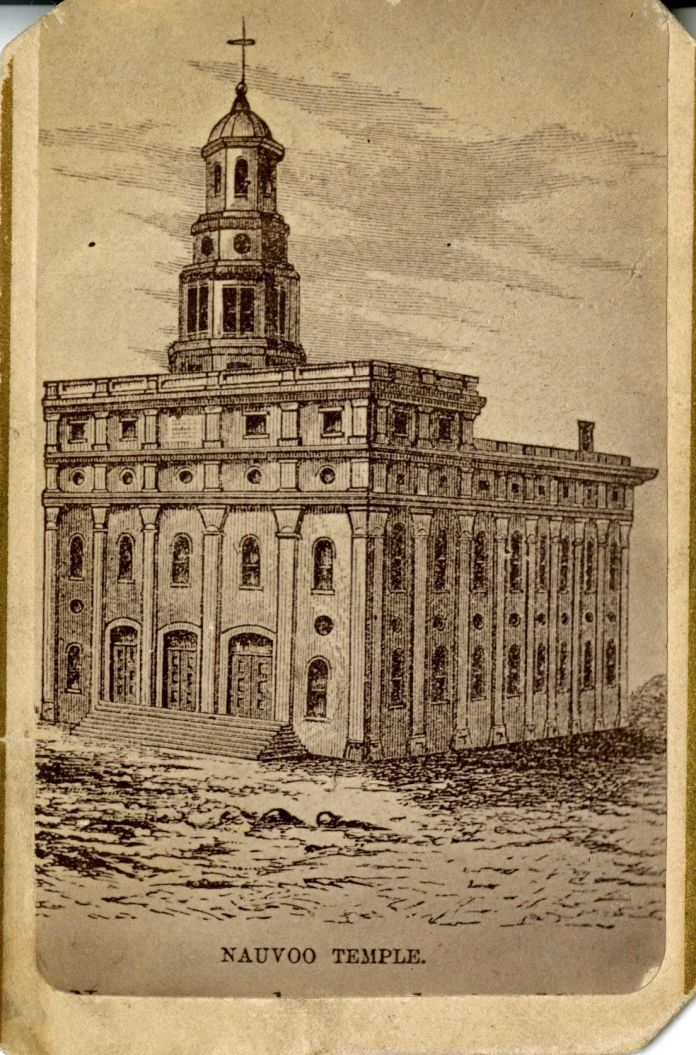 A contemporary drawing of the original Nauvoo Temple.