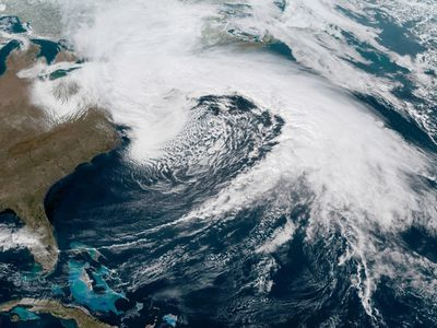 What today's storm looks like from space.