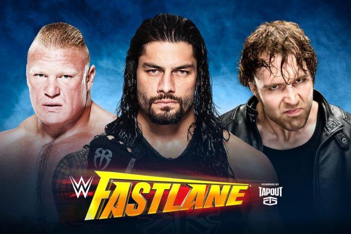Image result for Roman Reigns v Dean Ambrose v Brock Lesnar fastlane