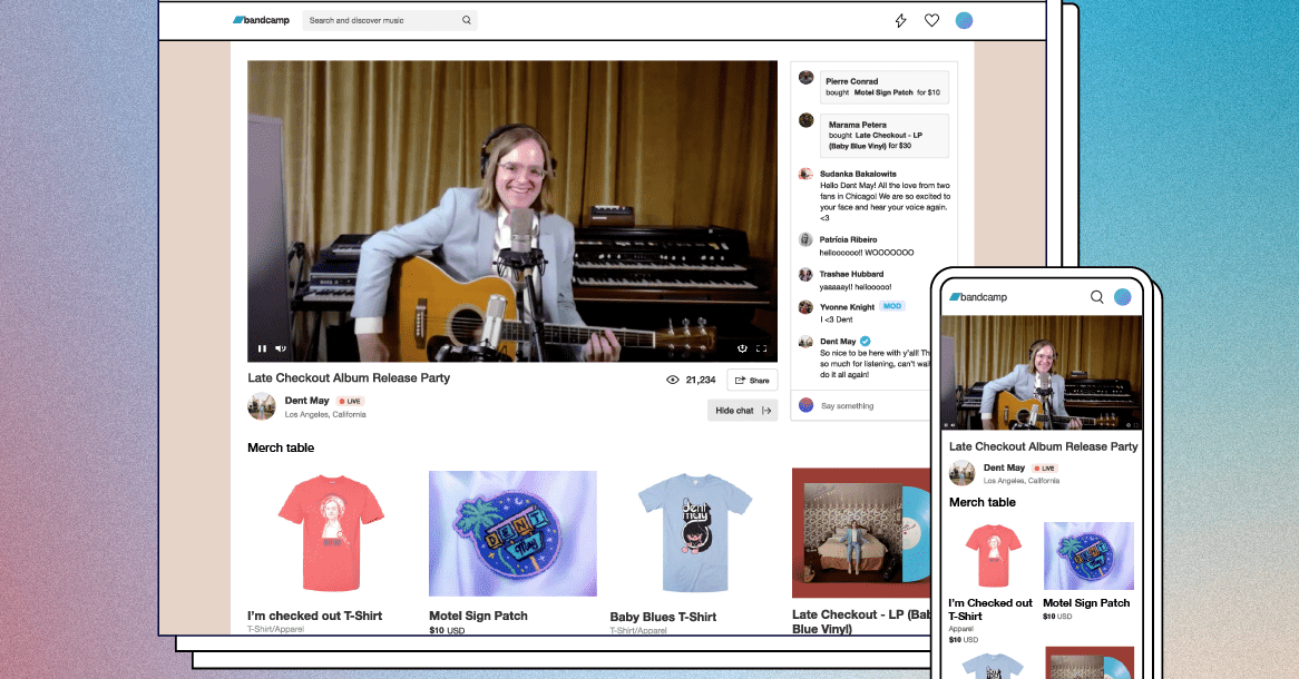Bandcamp adds ticketed live streams for virtual concerts