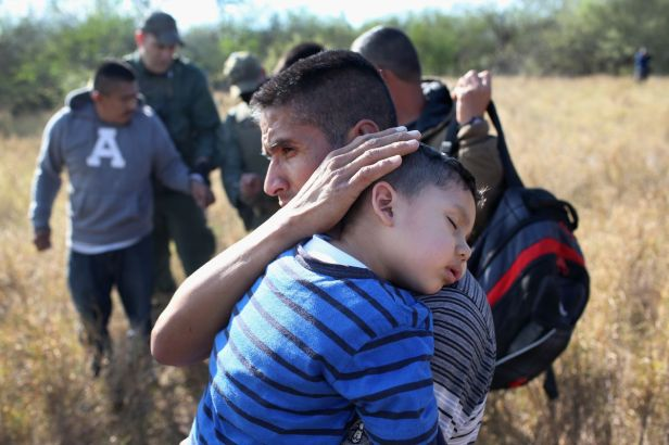 The Trump administration is separating families like this one (from 2015) who cross the US/Mexico border illegally, prosecuting the parents and placing the children in government custody or foster care.