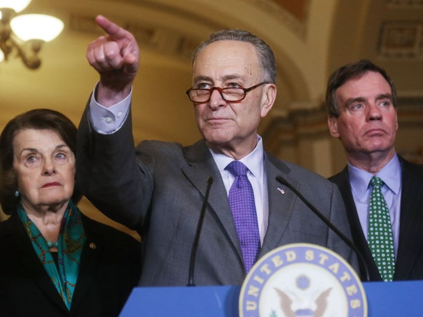 Senate Minority Leader Chuck Schumerand Sen. Dianne Feinstein (D-CA) say Republicans are rushing the Kavanaugh nomination.