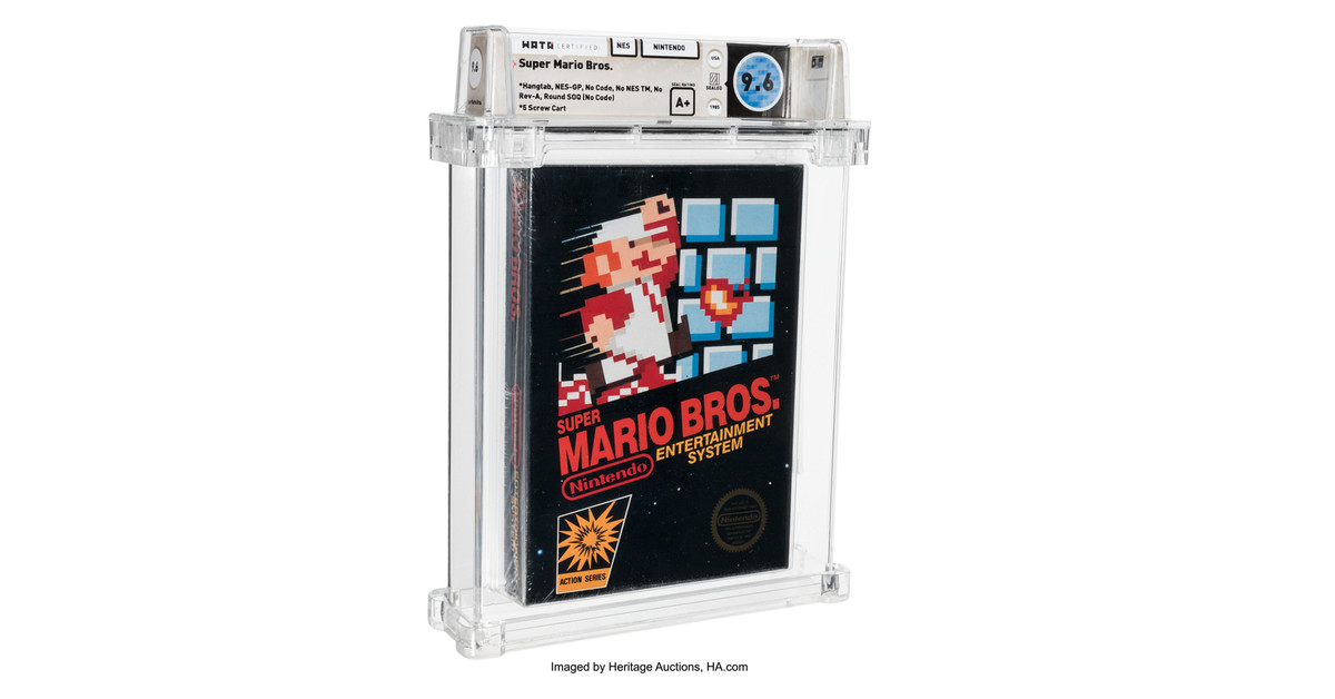Sealed Super Mario Bros. sells for 0,000, shattering record for most expensive game ever