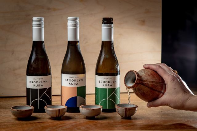 Brooklyn Kura sake in Felicitas ceramic sake cups