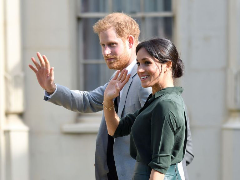 Prince Harry and Meghan Markle in Brighton, England, on October 3.