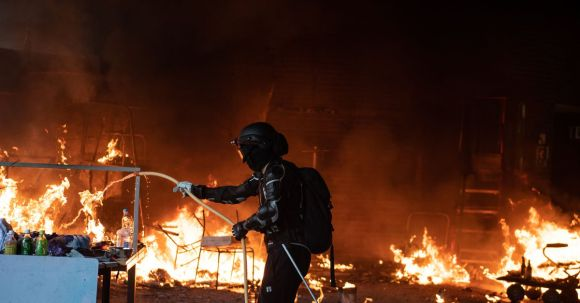 A Hong Kong university becomes a battleground in the latest round of protests