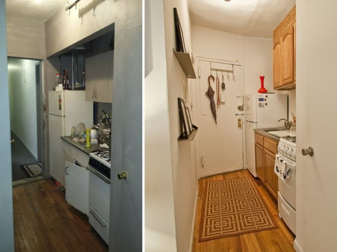 Left The Kitchen Before Renovation Right Now