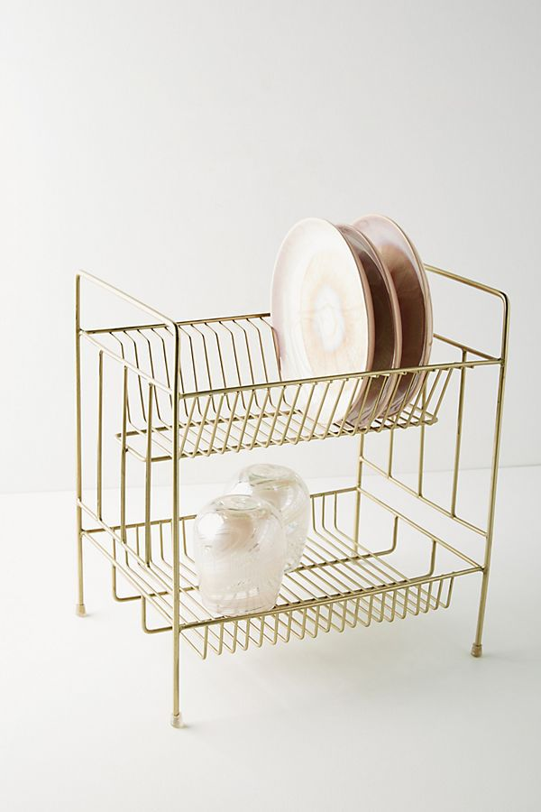 Brass dish rack from Anthropologie