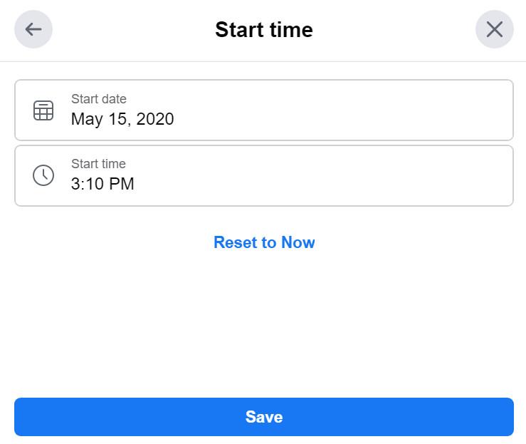 """Questa finestra ha una barra per la scelta della data e una seconda barra per la scelta della data per la stanza. C'è anche un'opzione """"Ripristina adesso""""."""