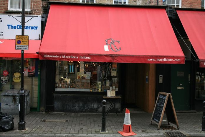 Macellaio RC Exmouth Market open for meat sales during London lockdown
