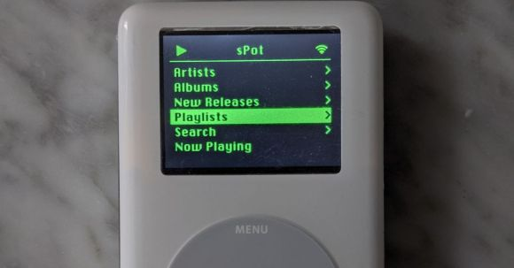 This DIY project turns an iPod into a click wheel-powered Spotify player