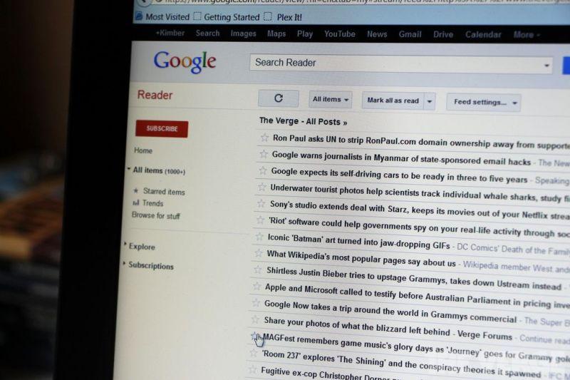 Stock di Google Reader